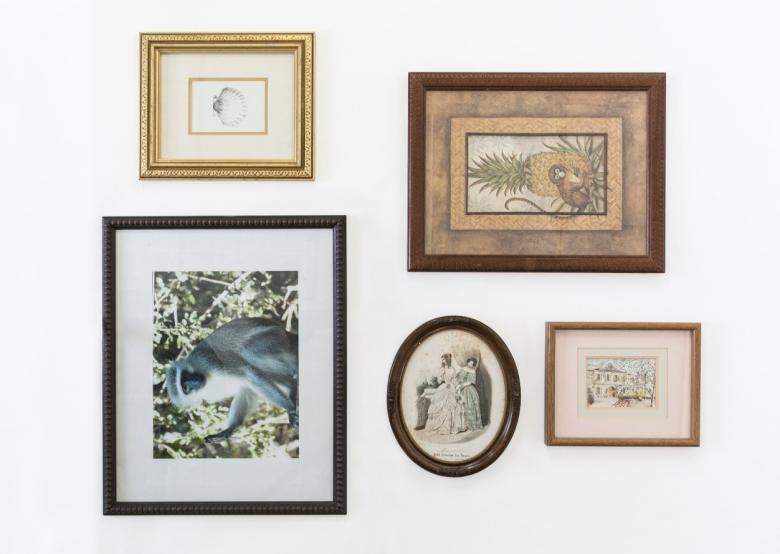 Make your own DIY gallery wall with repurposed vintage frames ...