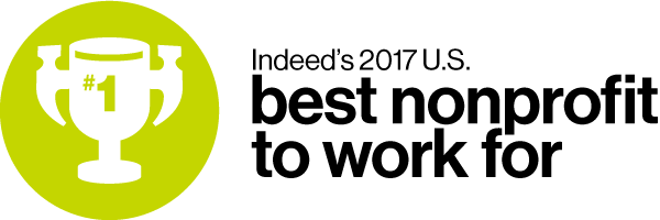 Indeed's number 1 U.S. Best Nonprofit to Work For in 2017