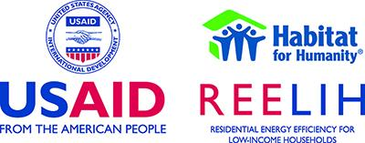 logo of USAID, Habitat for Humanity and REELIH