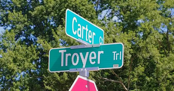 carter troyer street sign.