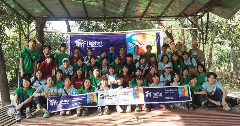 Japanese youth volunteers at the close of the Asia Build in Myanmar.