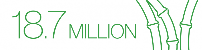 "Graphic that reads ""18.7 million and a bamboo icon."
