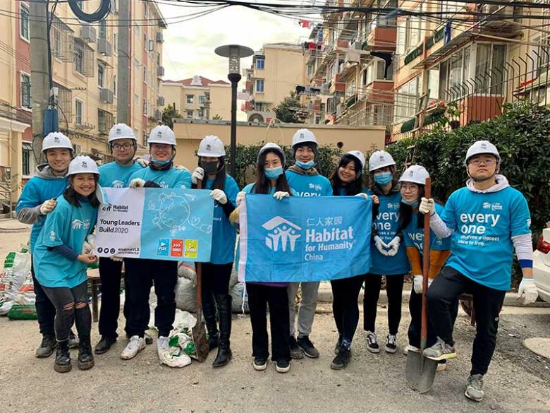Habitat volunteers in Shanghai, China.